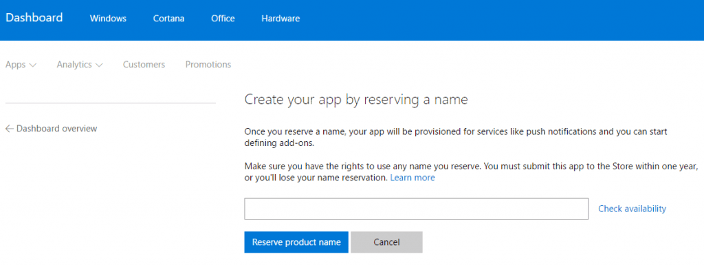 Register app name on Microsoft AppSource