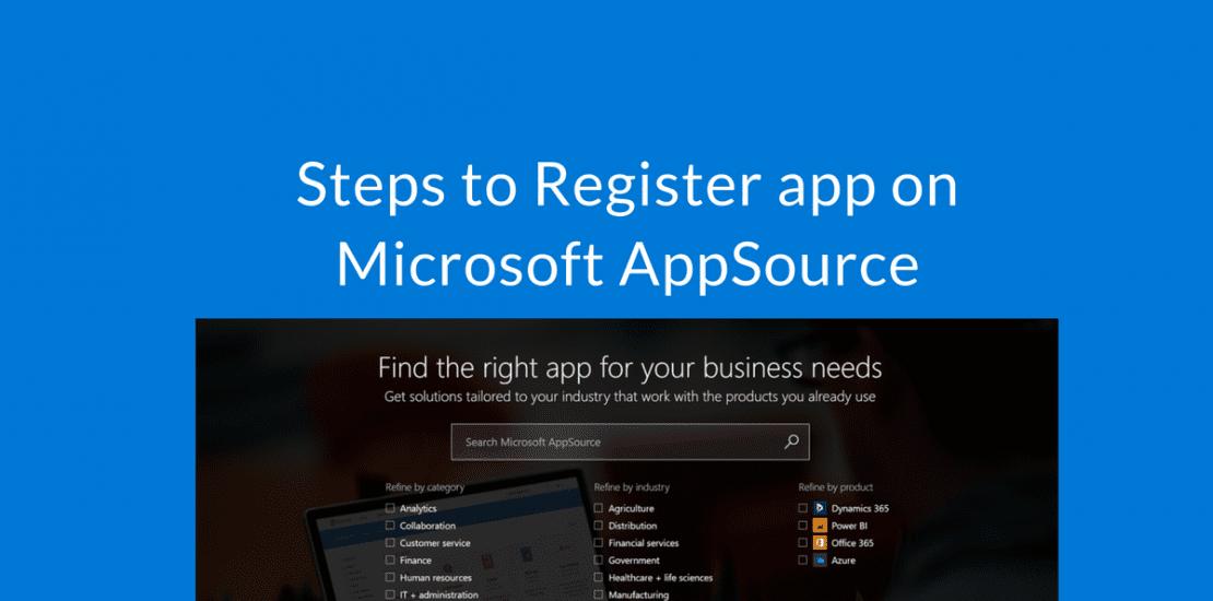 Register app on Microsoft AppSource