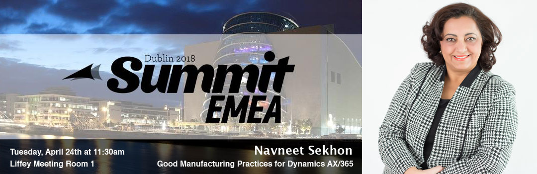 Navneet Sekhon at Summit EMEA Dublin