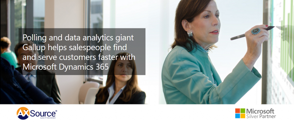 Polling and data analytics giant Gallup helps salespeople find and serve customers faster with Microsoft Dynamics 365