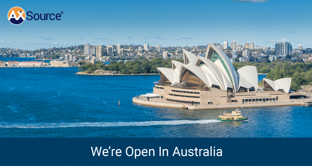 AXSource Expands Presence in Asia Pacific Region with New Office in Australia